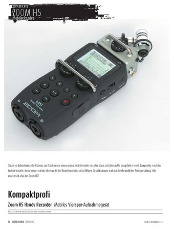 Sound & Recording Zoom H5 Handy Recorder - Mobiles Vierspur-Aufnahmegerät