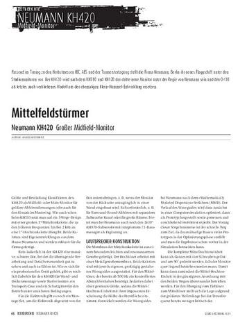 Sound & Recording Neumann KH420 - Großer Midfield-Monitor