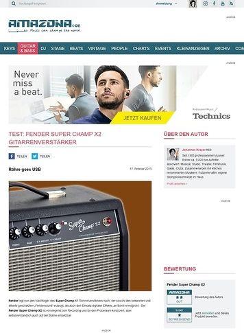 Amazona.de Test: Fender Super Champ X2, Gitarrenverstärker