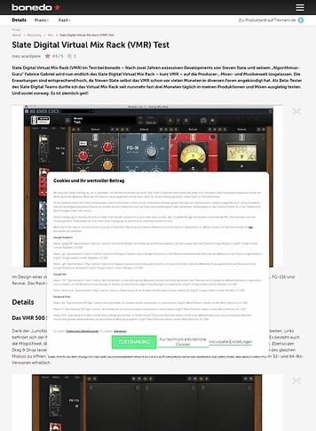 Bonedo.de Slate Digital Virtual Mix Rack