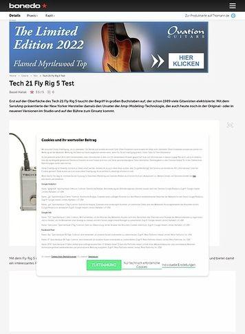 Bonedo.de Tech 21 Fly Rig 5