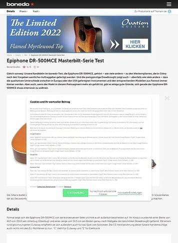 Bonedo.de Epiphone DR-500MCE