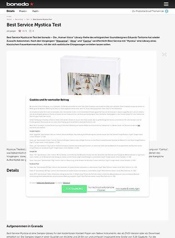 Bonedo.de Best Service Mystica