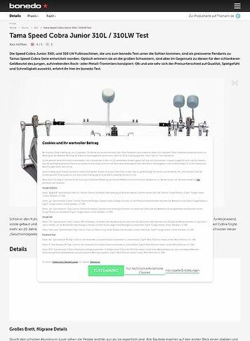 Bonedo.de Tama Speed Cobra Junior 310L / 310LW