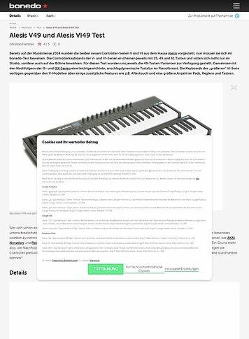 Bonedo.de Alesis V49 und Alesis VI49
