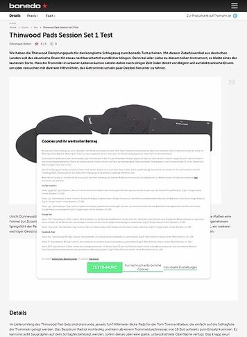 Bonedo.de Thinwood Pads Session Set 1