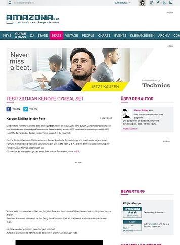 Amazona.de Test: Zildjian Kerope Cymbal Set