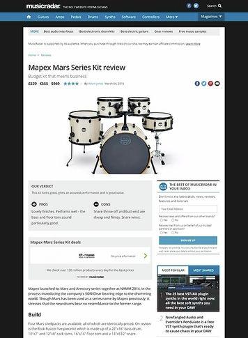 MusicRadar.com Mapex Mars Series Kit