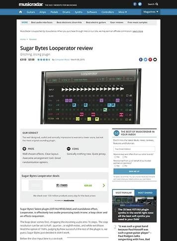 MusicRadar.com Sugar Bytes Looperator