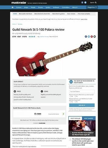 MusicRadar.com Guild Newark St S-100 Polara