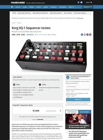 MusicRadar.com Korg SQ-1 Sequencer