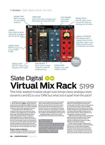 Computer Music Slate Digital Virtual Mix Rack