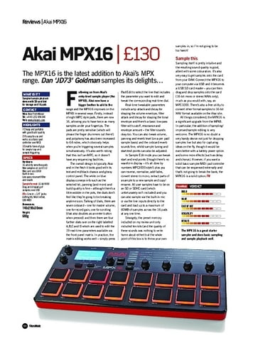 Future Music Akai MPX16