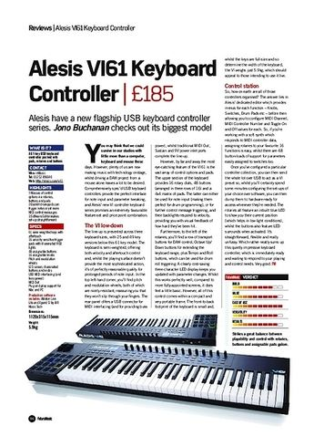 Future Music Alesis VI61