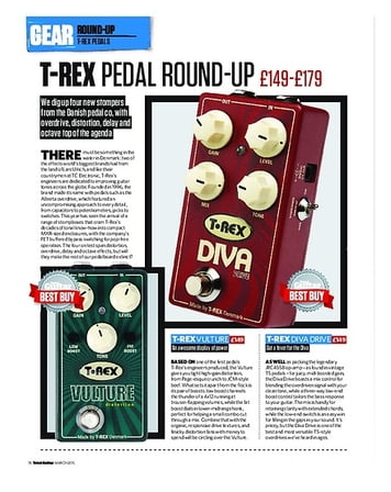 Total Guitar T-Rex Pedals