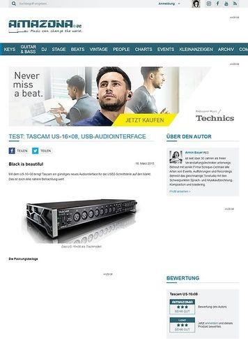 Amazona.de Test: Tascam US-16x08, USB-Audiointerface
