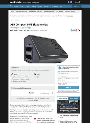 MusicRadar.com AER Compact 60/3 Slope