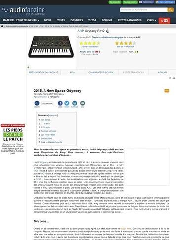 Audiofanzine.com ARP Odyssey Rev (2015)