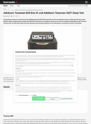 Bonedo.de Ashdown Toneman 600 Evo III und Ashdown Toneman 410T Deep