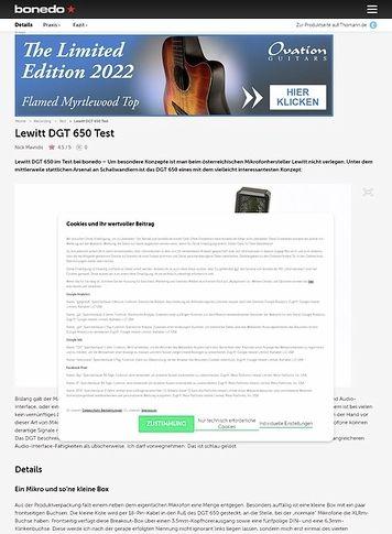 Bonedo.de Lewitt DGT 650
