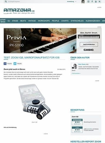 Amazona.de Test: Zoom iQ6, Mikrofonaufsatz für iOS