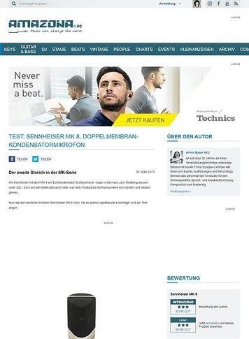 Amazona.de Test: Sennheiser MK 8, Doppelmembran-Kondensatormikrofon