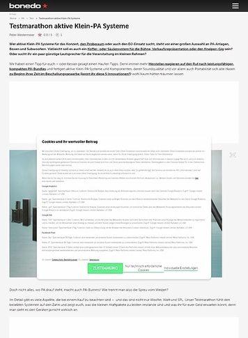 Bonedo.de Testmarathon aktive Klein-PA Systeme