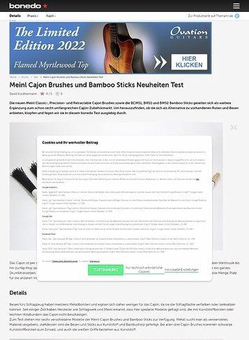 Bonedo.de Meinl Cajon Brushes und Bamboo Sticks