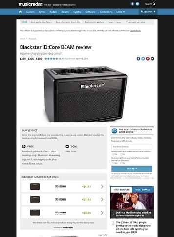 MusicRadar.com Blackstar ID:Core BEAM