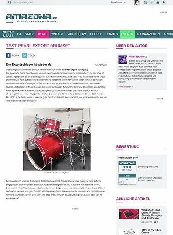 Amazona.de Test: Pearl Export Drumset