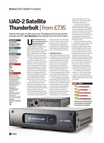 Future Music UAD-2 Satellite Thunderbolt