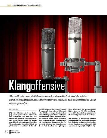 Professional Audio Miktek C1 und CV3