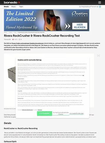 Bonedo.de Rivera RockCrusher & Rivera RockCrusher Recording