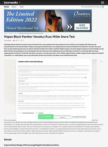 Bonedo.de Mapex Black Panther Versatus Russ Miller Snare