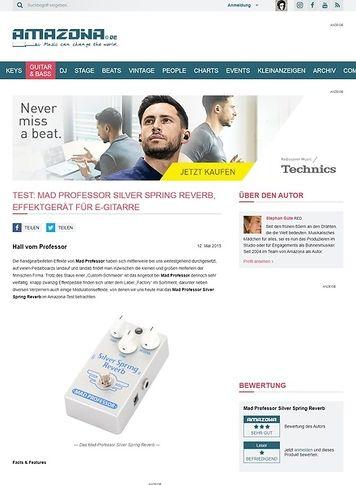 Amazona.de Test: Mad Professor Silver Spring Reverb, Effektgerät für E-Gitarre