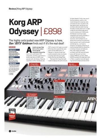 Future Music Korg ARPOdyssey