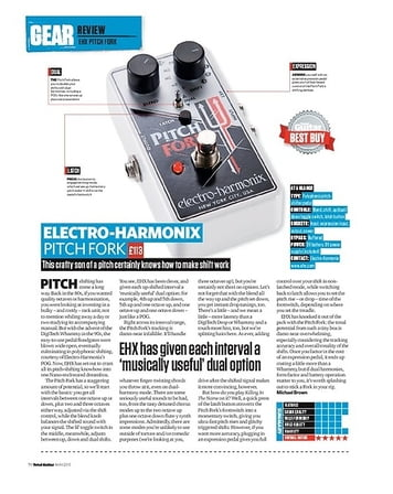 Total Guitar Electro-Harmonix Pitch Fork