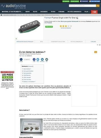 Audiofanzine.com Fishman Fluence Single Width for Strat