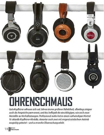 Professional Audio Kopfhörer-Vergleichstest