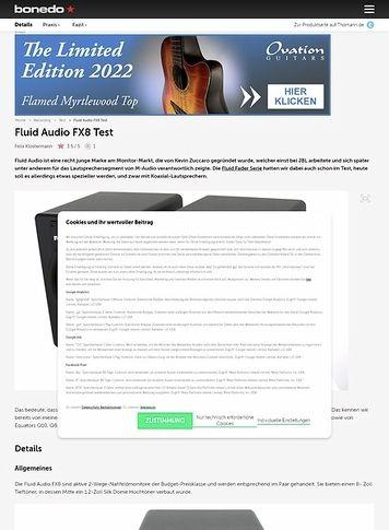 Bonedo.de Fluid Audio FX8