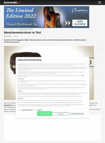 Bonedo.de Bändchenmikrofone im Test