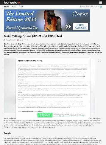 Bonedo.de Meinl Talking Drums ATD-M und ATD-L