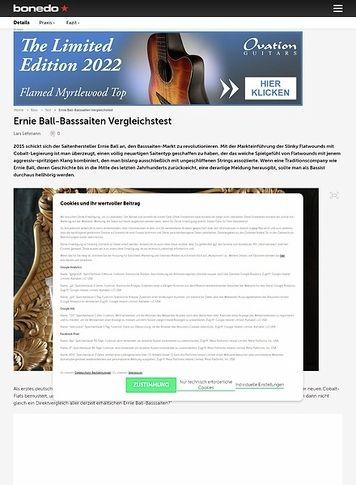 Bonedo.de Ernie Ball Basssaiten Vergleichstest