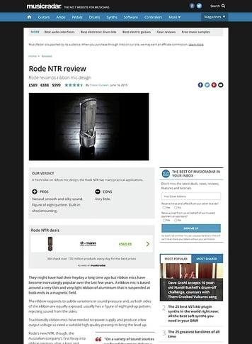 MusicRadar.com Rode NTR