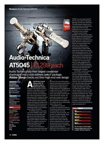 Future Music Audio-Technica AT5045