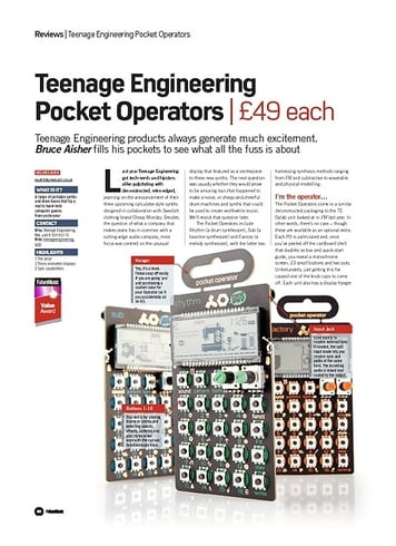Future Music Teenage Engineering Pocket Operators