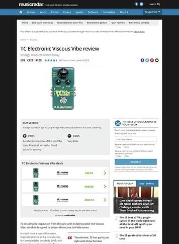 MusicRadar.com TC Electronic Viscous Vibe