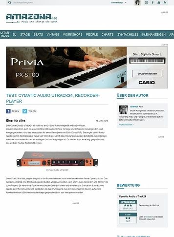 Amazona.de Test: Cymatic Audio uTrack24, Recorder-Player