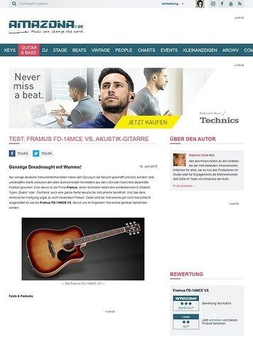 Amazona.de Test: Framus FD-14MCE VS, Akustik-Gitarre