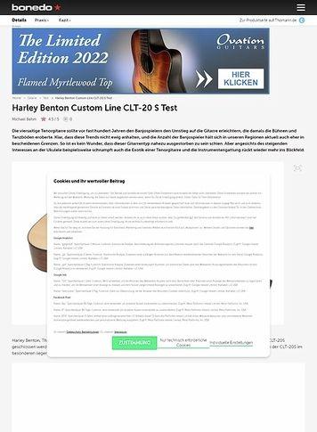 Bonedo.de Harley Benton Custom Line CLT-20 S